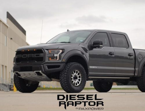 PaxPower creates a Ford Raptor with a 3.0L PowerStroke Diesel and 550 ft/lb of torque!